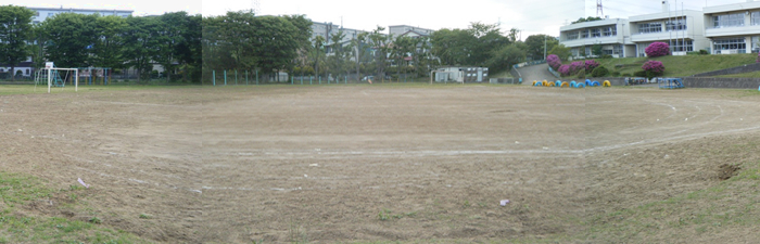 千葉市内小学校グラウンドbefore画像