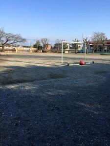 凍上・霜対策の園庭