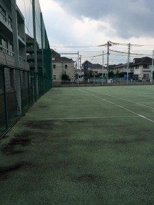 テニスコート 改修前画像