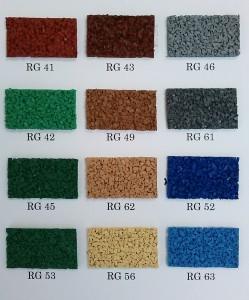 カラーゴムチップ サンプル