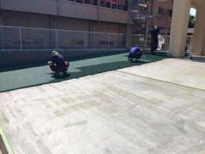 学校 グラウンド カラーゴムチップ舗装