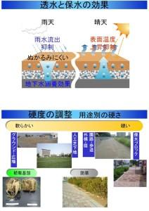 透水性保水型土系