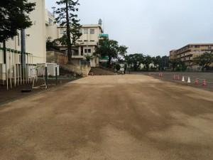 学校グラウンド 凍上 泥濘 発生抑制 対策工法