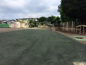 クレイグラウンド 粉塵 近隣対策 工事 粒度調整防塵専用処理材 ヘルシーグリーン