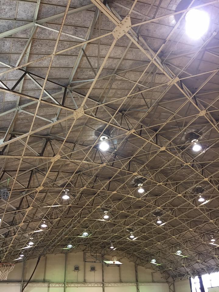 天井落下対策ネット工事 体育館 公民館 避難場所