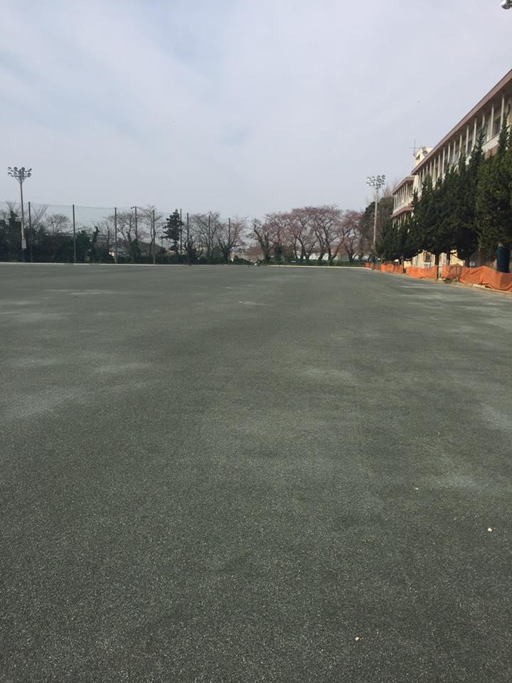 千葉県内 学校グラウンド整備工事 画像