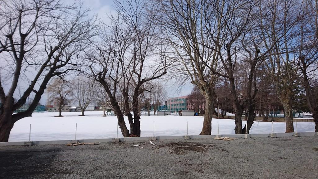 青森県弘前市内 園庭