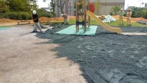 公園 ヘルシーグリーン敷設 防塵対策1