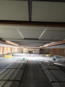 天井材落下対策 つり天井ネット工事
