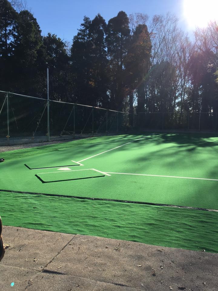 人工芝の野球練習場