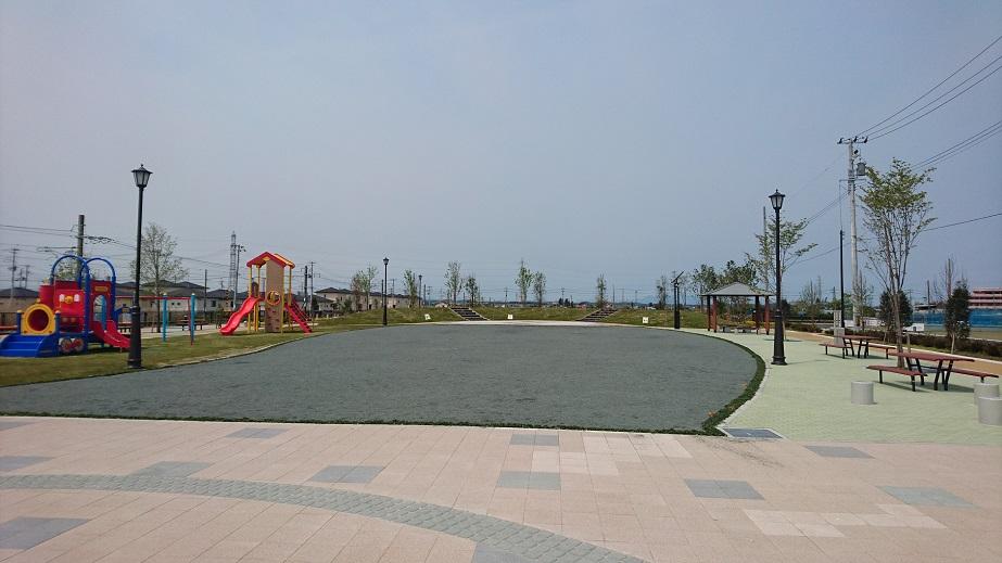 公園 広場防塵対策