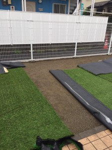人工芝 設置状況 1