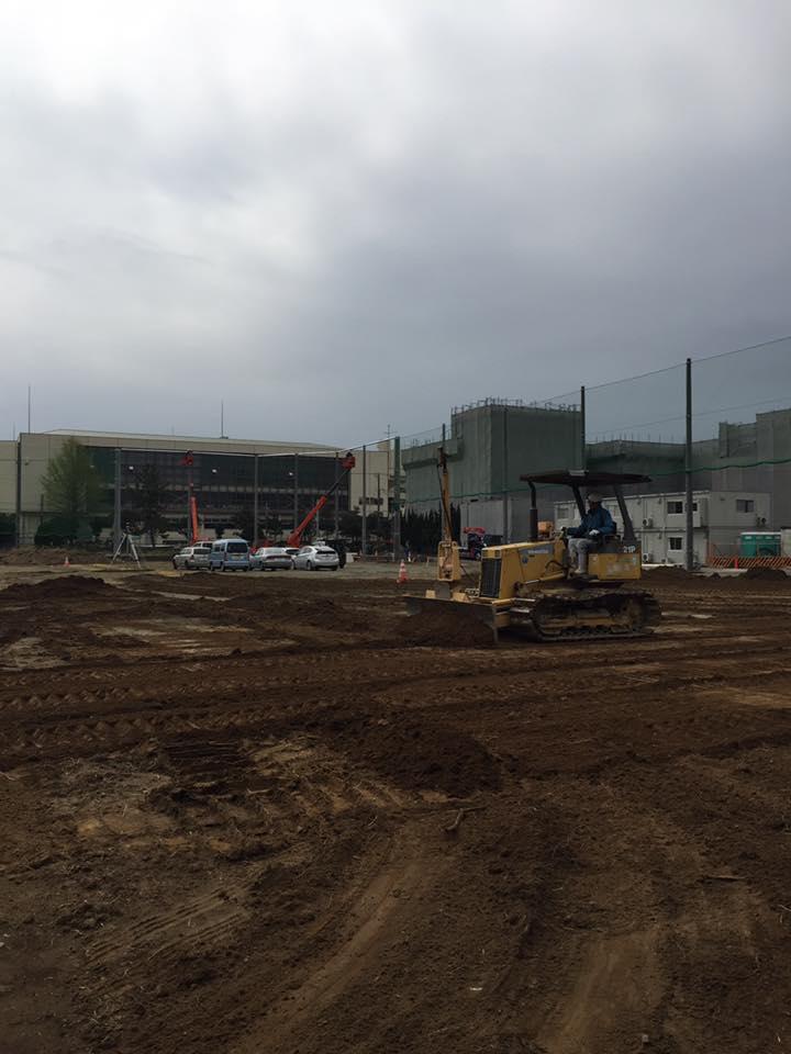 中学校グラウンド整備工事 画像 土壌改良土 工法