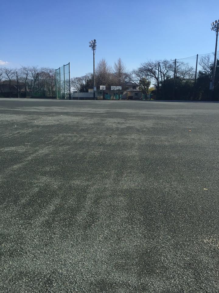 学校グラウンド整備工事 透水性保水型土舗装