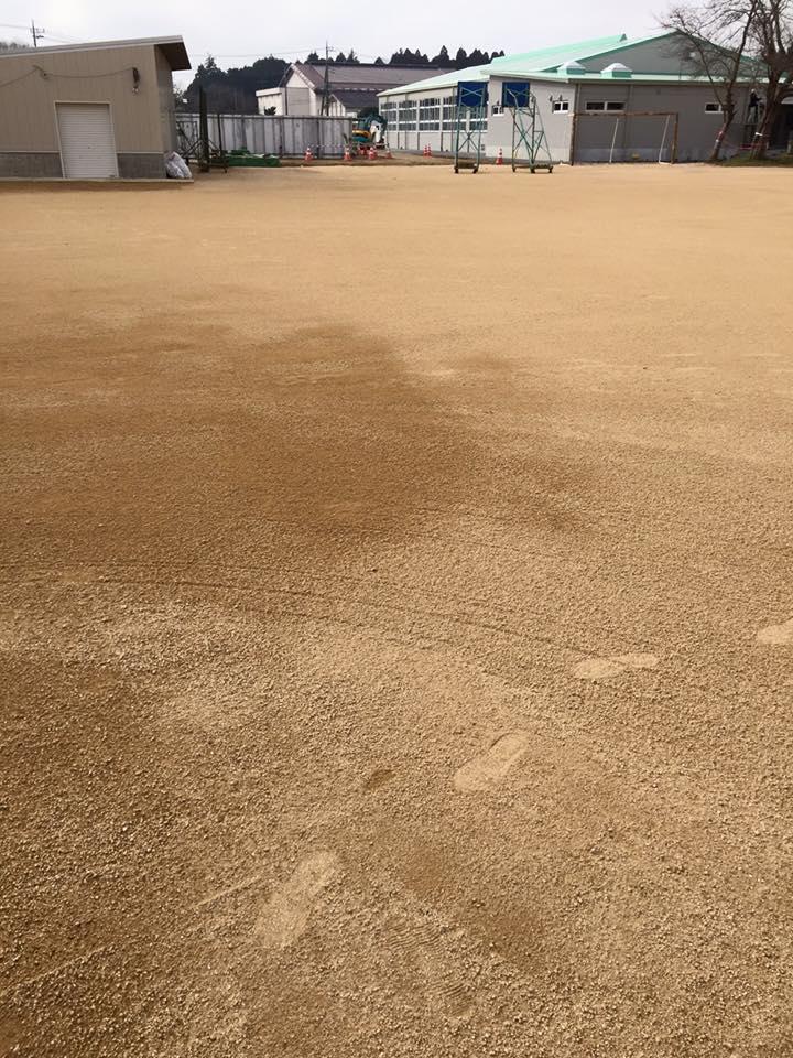 1 グラウンド整備 岩瀬砂