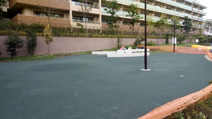 防塵対策 公園 ヘルシーグリーン完成1
