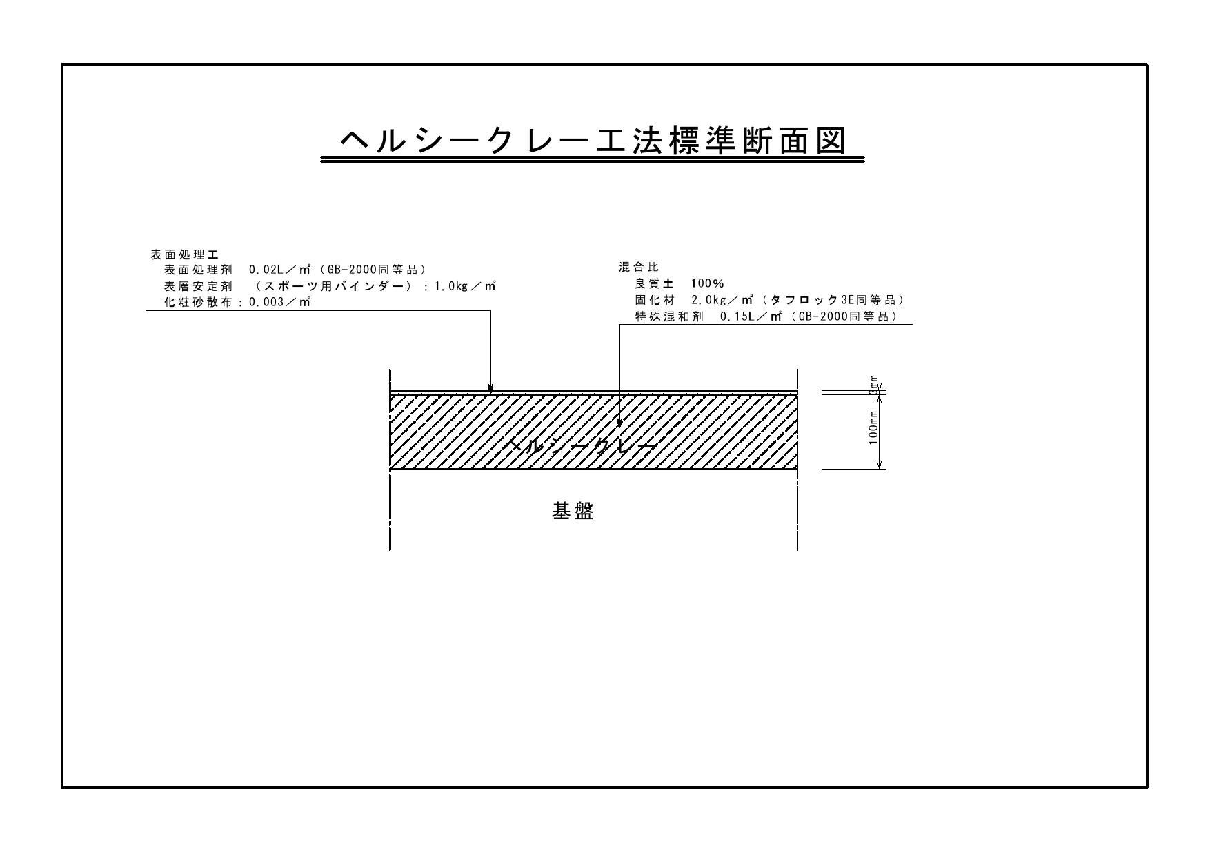 ヘルシークレー標準断面図