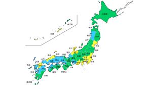 日本地図 営業範囲