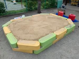 抗菌砂敷き込み完了