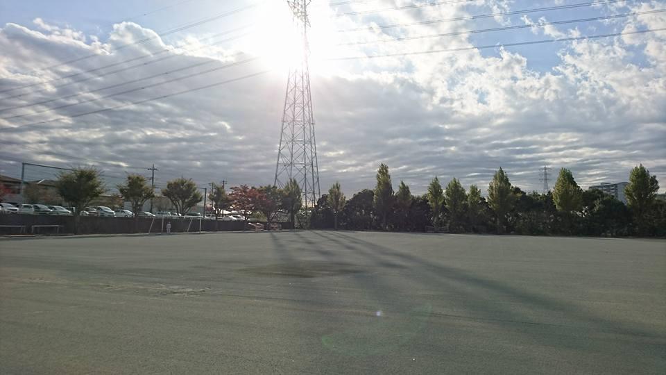 運動場防塵対策工事