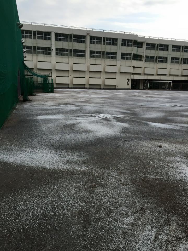 グラウンド 防塵処理 散布