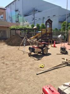 園庭改修工事 人工芝