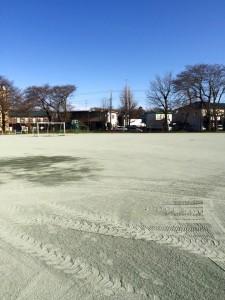 グラウンド 防塵対策工事