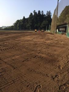 野球場 内野 修繕