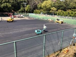テニスコート アスファルト舗装