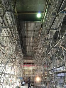 天井材落下対策工事