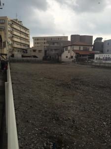 解体現場の跡地 防塵対策