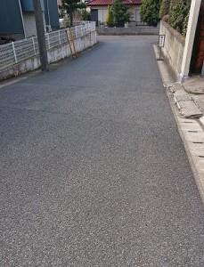 アスファルト道路