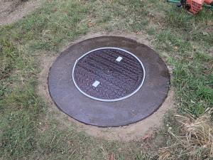 鉄製・コンクリート製蓋 ゴムチップ加工前画像1