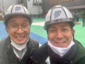芳次専務と岩舘さん