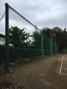 学校グラウンド 防球ネット 設置業者