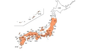 色分け日本地図 27年2月