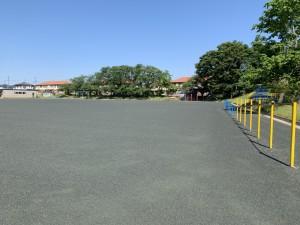 千葉市内 小学校グラウンド整備 完成画像(笑土)2