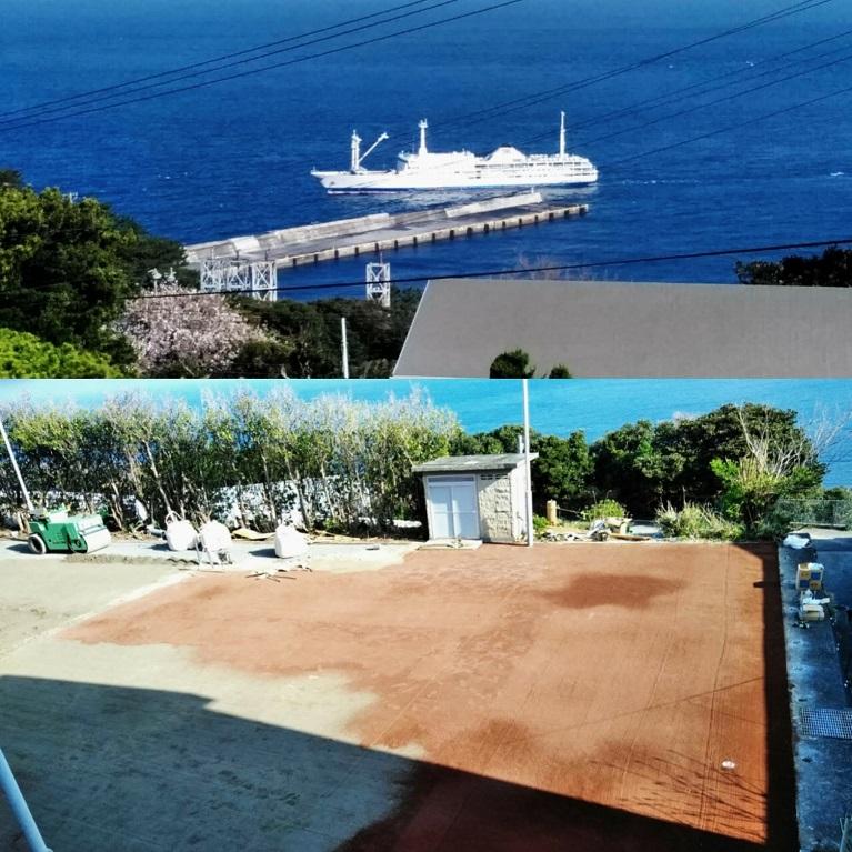 利島 テニスコート 伊豆諸島
