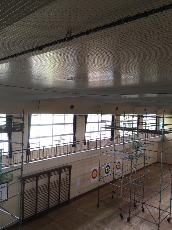 天井材を撤去せずに済む脱落対策工事