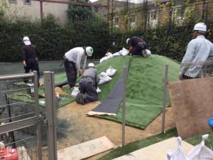 都内園庭 人工芝