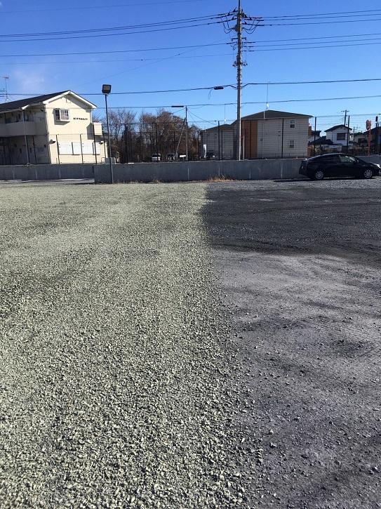 砕石駐車場の防塵対策 ヘルシーグリーン大