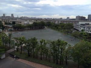 7月3日の千葉市内 豪雨後2時間で遊べるグラウンド画像