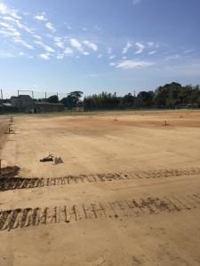 学校 グラウンド 整備 防塵対策工法