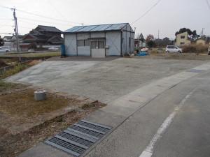 仮設 砂利駐車場