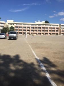 中学校グラウンド改修工事 着工前1