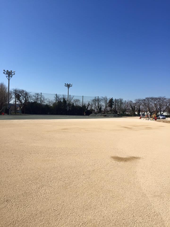 グラウンド整備工事1 岩瀬砂 改良 土壌改良
