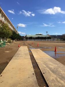学校グラウンド 改良工事1