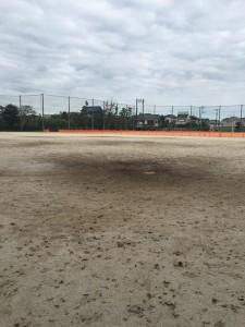 中学校グラウンド整備