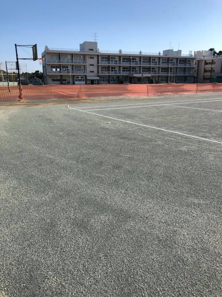 テニスコート ライン張り2