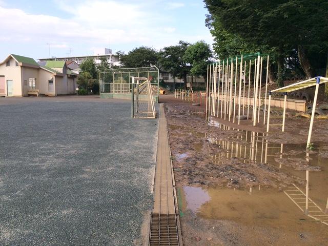 運動場の土壌改良工法